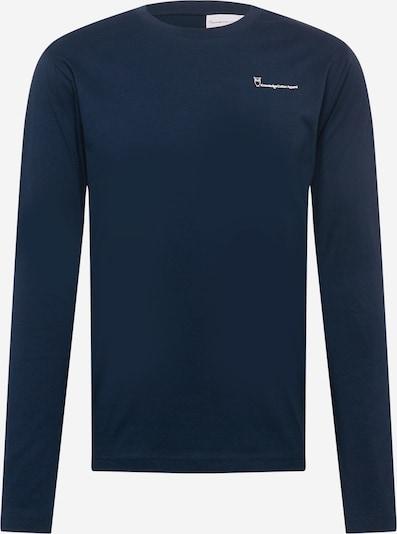 KnowledgeCotton Apparel T-Krekls 'LOCUST', krāsa - tumši zils / balts, Preces skats