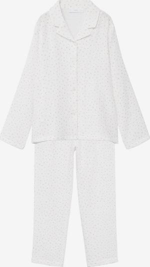 MANGO KIDS Pyjama 'Rose' in weißmeliert, Produktansicht