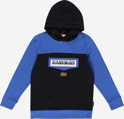Bluză de molton 'BURGEE' NAPAPIJRI pe albastru / negru / alb, Vizualizare produs
