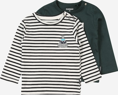 STACCATO Skjorte i turkis / mørkegrøn / blandingsfarvet / sort / hvid: Frontvisning