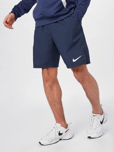 NIKE Športové nohavice 'Flex' - námornícka modrá, Model/-ka