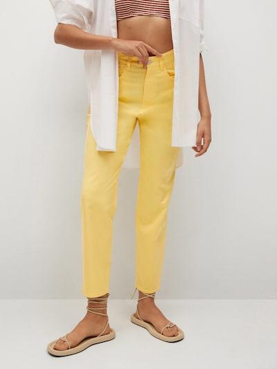 Pantaloni 'FIVES' MANGO pe galben, Vizualizare model