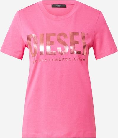 DIESEL Tričko - ružové zlato / svetloružová: Pohľad spredu