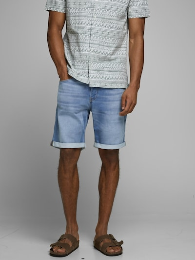 JACK & JONES Shorts 'RICK' in blau, Modelansicht