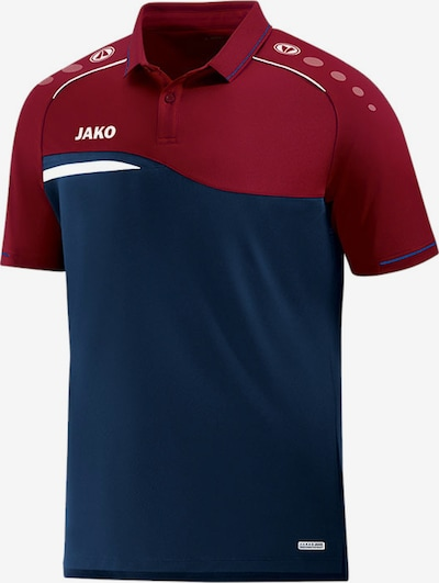 JAKO Poloshirt in dunkelblau / dunkelrot, Produktansicht