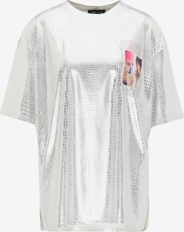 myMo at night - Camiseta talla grande en plata
