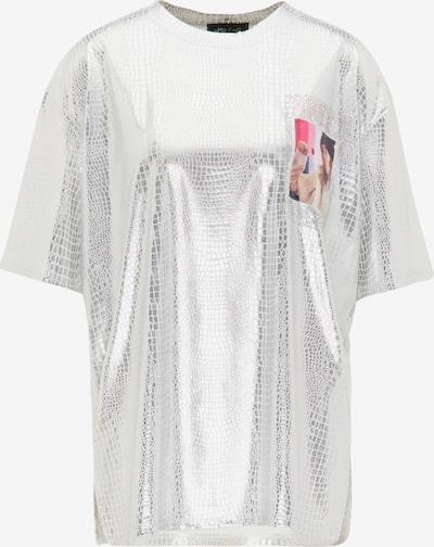 myMo at night Oversized bluse i blandingsfarvet / sølv, Produktvisning