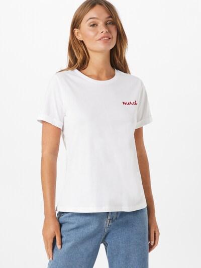 Grace & Mila T-shirt 'BILLY' en rouge / blanc: Vue de face