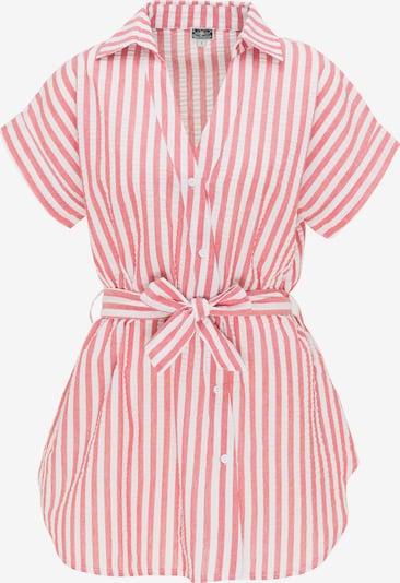 DreiMaster Maritim Hemdbluse in blutrot / weiß, Produktansicht