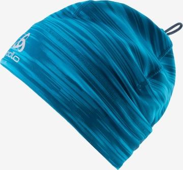 ODLO Athletic Hat 'POLYKNIT WARM ECO PRINT' in Blue