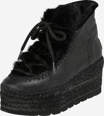 Vidorreta Lace-Up Ankle Boots 'CIERVO CRETA' in Black