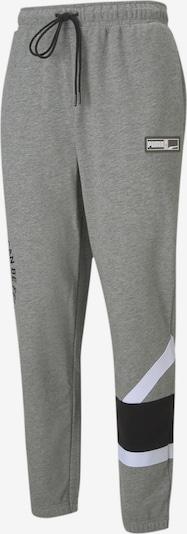 PUMA Sportbroek 'Franchise Knitted' in de kleur Grijs / Zwart / Wit, Productweergave