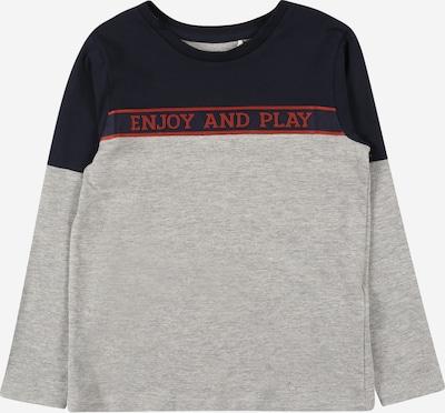 NAME IT Majica 'NAPLAY' u mornarsko plava / siva melange / crvena, Pregled proizvoda