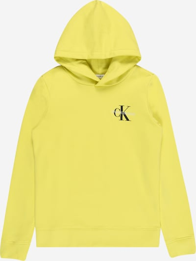 Calvin Klein Jeans Mikina - žltá / čierna / biela, Produkt