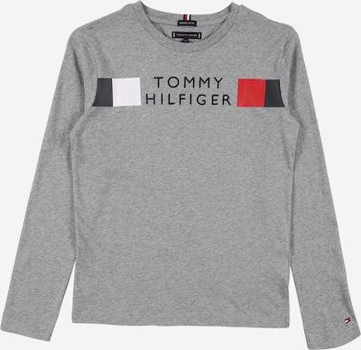 TOMMY HILFIGER T-Shirt en bleu marine / gris chiné / rouge / blanc, Vue avec produit