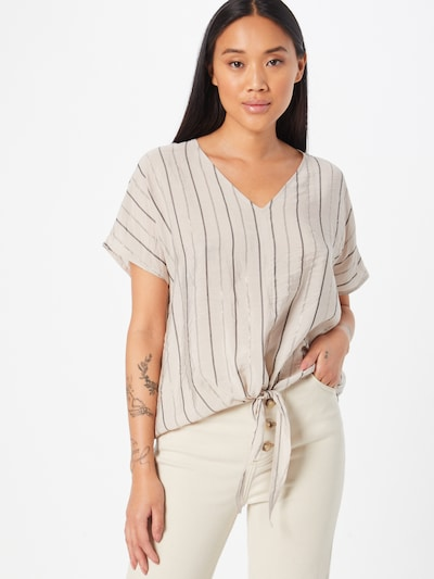 Q/S by s.Oliver Blouse in Light beige / Mocha / Silver, View model