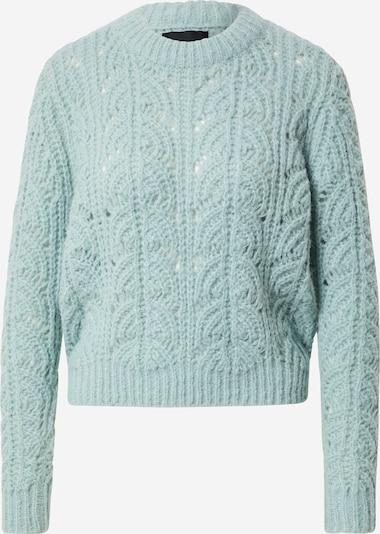 PIECES Sweter 'FIONAN' w kolorze niebieski cyjanm: Widok z przodu