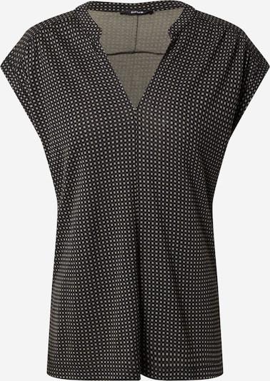 OPUS Bluse 'Sandi' in hellgrün / schwarz / schwarzmeliert, Produktansicht