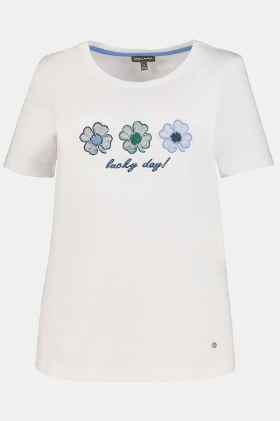 Gina Laura Gina Laura Damen T-Shirt in blau / grau / weiß, Produktansicht