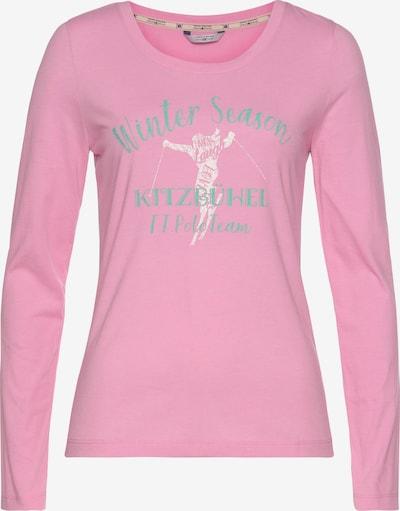 Tom Tailor Polo Team Shirt in mint / rosa, Produktansicht
