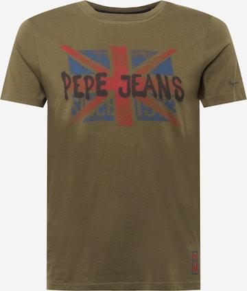 Pepe Jeans Särk 'ROLAND', värv roheline