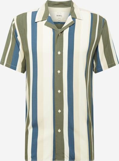 Redefined Rebel Hemd 'Joe' in creme / himmelblau / khaki / eierschale, Produktansicht