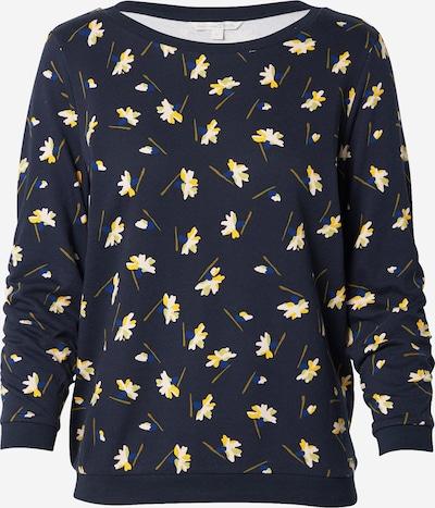 TOM TAILOR DENIM Sweatshirt in blau / navy / gelb / weiß, Produktansicht