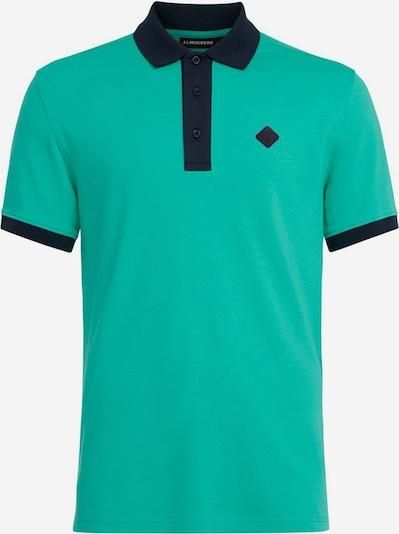 J.Lindeberg Shirt 'Levon' in de kleur Nachtblauw / Jade groen, Productweergave