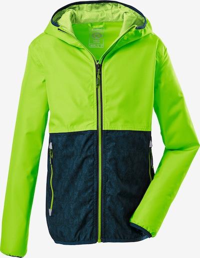 KILLTEC Outdoorová bunda 'Lyse' - limetová / petrolejová, Produkt