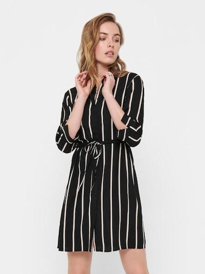 ONLY Blusenkleid 'Tamari' in beige / schwarz / weiß, Modelansicht