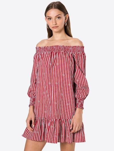 MICHAEL Michael Kors Kleid 'SAILOR KNOT' in rot / schwarz / weiß, Modelansicht
