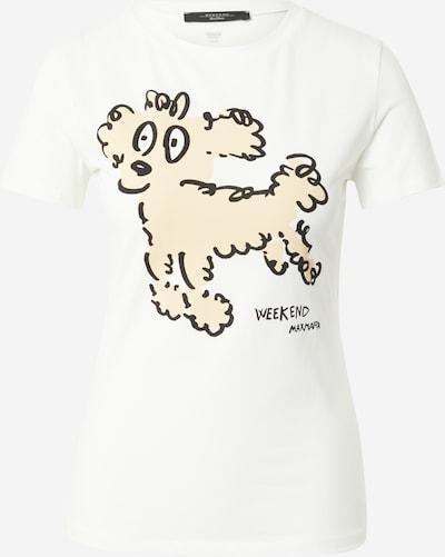 Tricou 'RANA' Weekend Max Mara pe alb kitt / negru / alb, Vizualizare produs