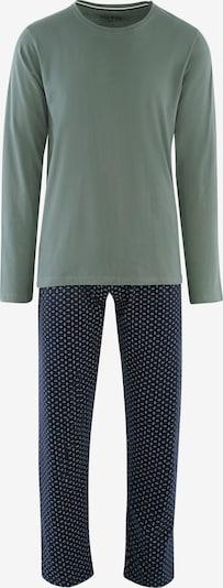Phil & Co. Berlin Pyjama long ' Special Phil ' en bleu marine / menthe, Vue avec produit