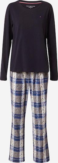 Tommy Hilfiger Underwear Пижама в синьо / нощно синьо / сиво / бяло, Преглед на продукта