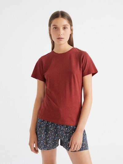 Thinking MU T-Shirt ' Hemp Juno ' in dunkelorange, Produktansicht