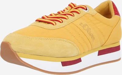 Sneaker low s.Oliver pe galben / zmeură / roșu / alb, Vizualizare produs