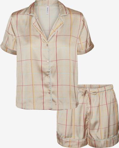 VERO MODA Pyjama 'Helena' in beige / hellblau / gelb / rot, Produktansicht