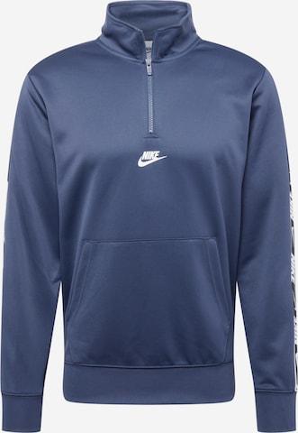 Nike Sportswear Sweatshirt 'REPEAT' in Blue