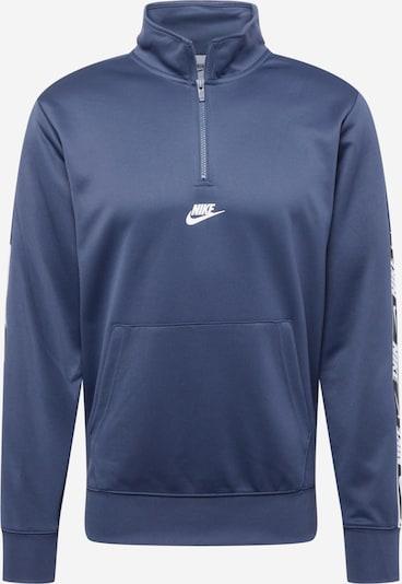 Nike Sportswear Sweatshirt 'REPEAT' in dunkelblau / weiß, Produktansicht