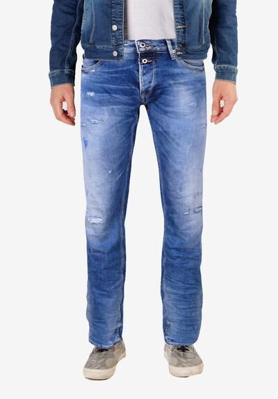 Le Temps Des Cerises Jeanshose '700/11' in blau, Modelansicht
