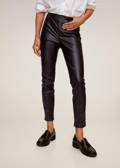 MANGO Leggings 'Londonpu' in bordeaux, Modelansicht