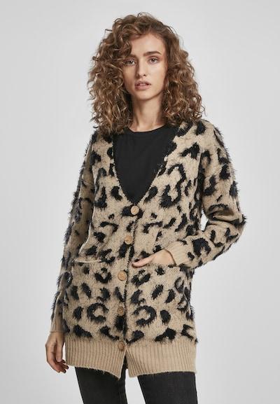 Urban Classics Strickjacke 'Leo' in camel / schwarz, Modelansicht