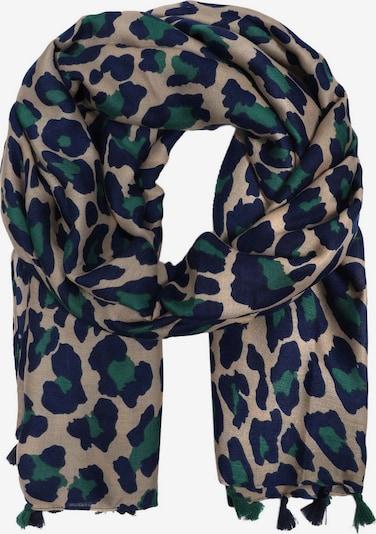 Zwillingsherz Sjaal 'Leo' in de kleur Beige / Blauw / Groen, Productweergave