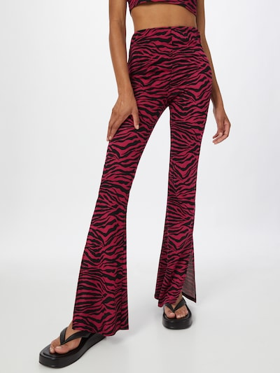 SHYX Trousers 'Alexis' in Anthracite / Pink, View model