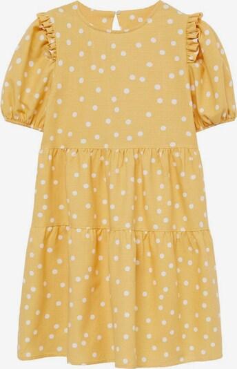 MANGO KIDS Kleid in gelb / weiß, Produktansicht