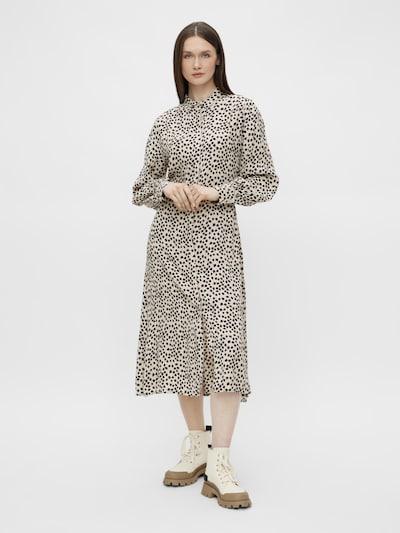OBJECT Blousejurk 'Sofia' in de kleur Crème / Zwart, Modelweergave