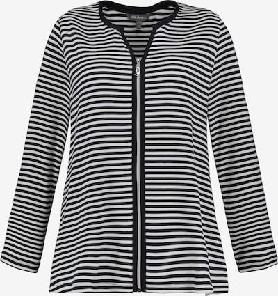 Ulla Popken Sweatjacke in schwarz / weiß, Produktansicht