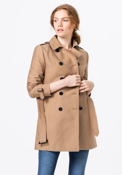 HALLHUBER Trenchcoat in beige / schwarz, Modelansicht
