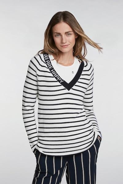 OUI Pullover in nachtblau / weiß, Modelansicht