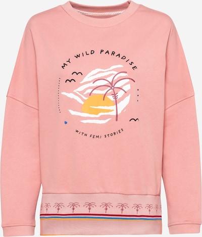 Femi Stories Sweatshirt 'VALD' in goldgelb / mischfarben / rosé / altrosa / weiß, Produktansicht